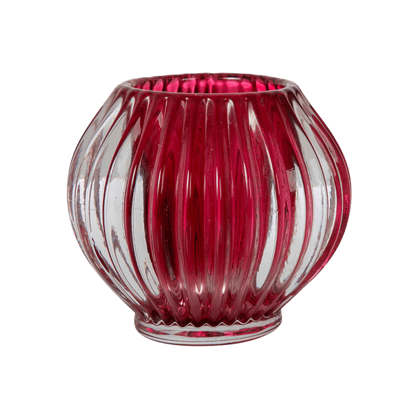 Red glass tealight candle holder | Candles, candle accessories, hurricanes - Perth, WA