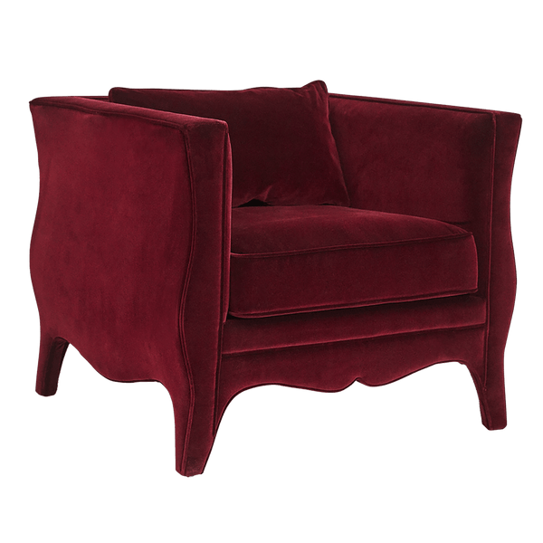 Rochelle burgundy velvet armchair | Luxury furniture, Perth WA