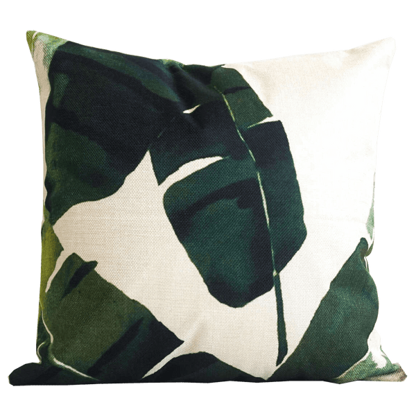 Banana leaf palm cushion 45x45cm | Luxury homeware & tropical home decor - Perth, WA