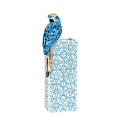 Blue ceramic Firenze parrot vase | Luxury home decor, home accessories, homeware - Perth, WA