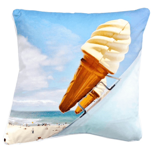The Artist Lab JD Ice cream blue cushion 45x45cm | Summer textiles, home decor & accessories - Perth WA