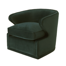 Gorgeous green velvet tub chair with legs hidden | Luxury occasional and arm chairs - Perth WA | By Natalie Jayne Interiors