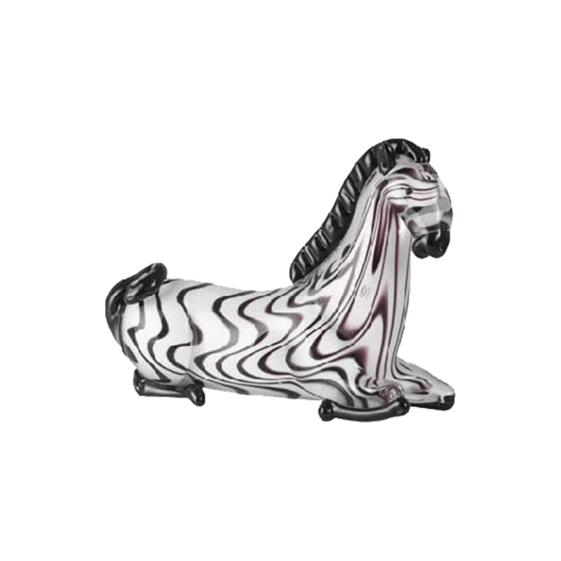 Glass Zebra figurine | Animal sculptures - Perth WA