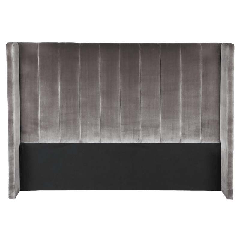 Charcoal Grey Velvet Panelled Bedhead | Luxury bedroom furniture, Perth WA