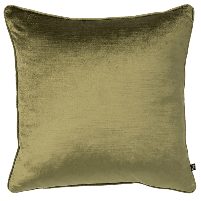 Mavis Velvet Cushion in a moss green colour, 55x55cm | Luxury Home Accessories - Perth, WA