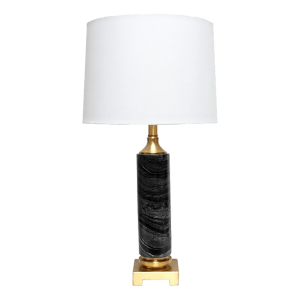 Black marble and gold table lamp with white linen lamp shade | Furniture & lighting | Perth, WA