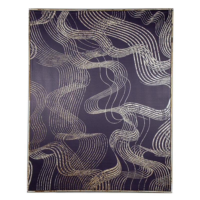 Handcrafted gold swirl art on navy background | Artworks, Art, home decor - Perth, WA