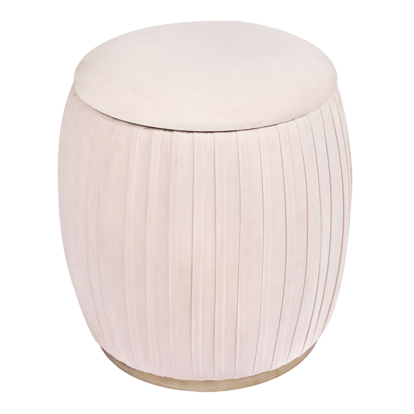Blush pink capsule storage stool | Ottomans, bench seats & stools, Perth WA