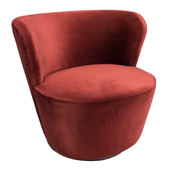 Coco Swivel Chair - Vintage Ruby | Luxury arm & occasional chairs, seating - Perth, WA
