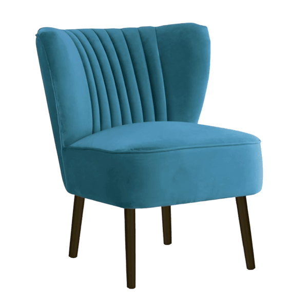 The Como Chair - Adriatic Blue | Velvet Occasional Chairs | Perth, WA