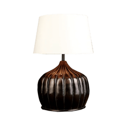 Unique wooden table lamp shaped like a pumpkin | Unique home lighting - Perth WA