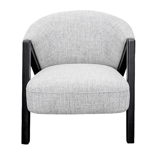 Speckled grey armchair with black A-frame | Tub chairs and occasional chairs - Perth WA