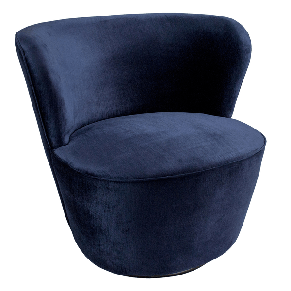 Coco Swivel Chair - Navy Blue Velvet | Darcy & Duke, Perth WA