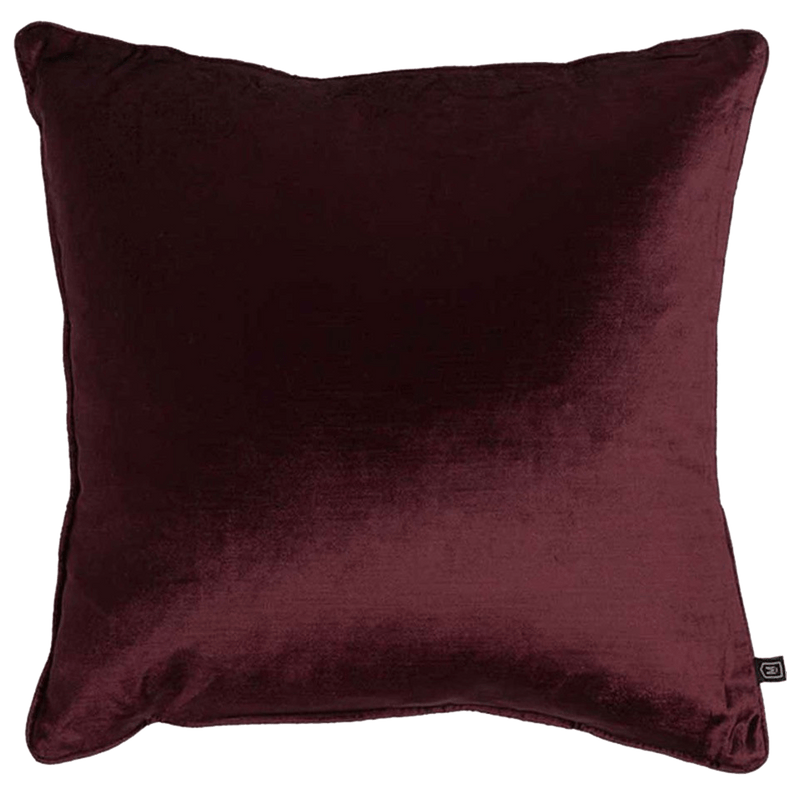 Roma cushion | burgundy square velvet cushion | Perth WA