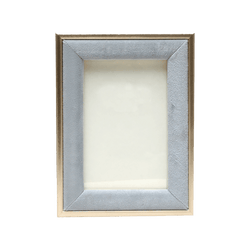 Pewter/blue/grey velvet photo frame with gold edging 20x25cm | Photo frames & home decor -Perth WA