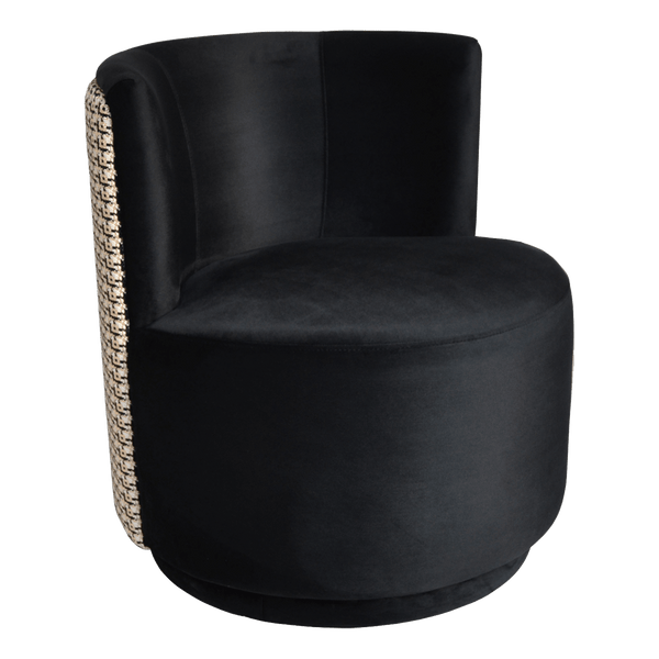Coco petite velvet arm chair - Black & Gold Tweed | Darcy & Duke Perth WA