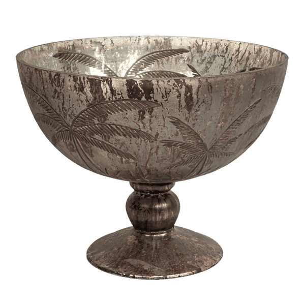 Palm bowl with gold leaf finish & pedestal base | Art deco style vases, urns & bowls, Perth WA