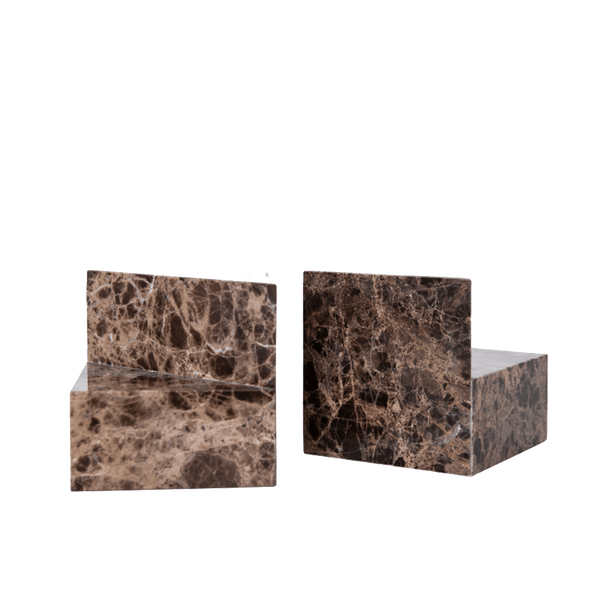 Marbled stone/crystal bookends | Luxury home decor - Perth WA