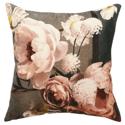 Cushion with peony flowers | velvet cushions Perth WA