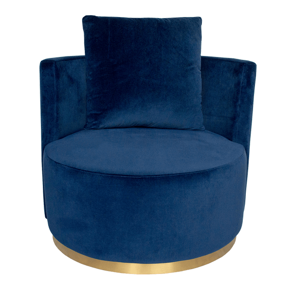 Milan Love Seat - Navy Blue Velvet | Darcy & Duke, Perth WA