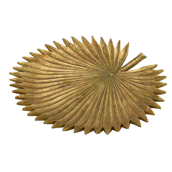 Fan Palm Tray - Gold