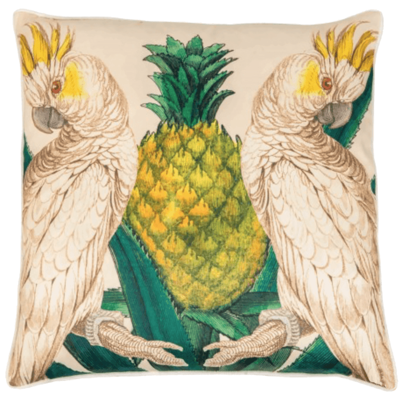 Creatively Active Minds Imperio Cushion Cacatoes | Bird cushions, tropical cushion, luxury cushion - Perth, WA