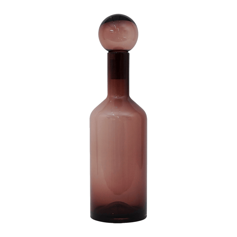 Large pink hurricane bottle with glass ball stopper | Home decor, luxury homeware, home accessories - Perth, WA