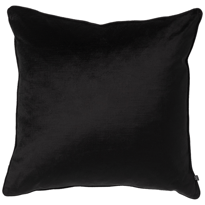 Black velvet cushion, 55x55cm | Luxury Home Accessories - Perth, WA