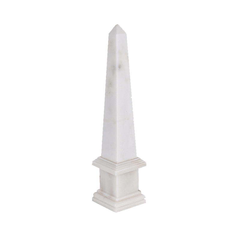 White Marble Obelisk Decorator | Luxury home decor - Perth WA