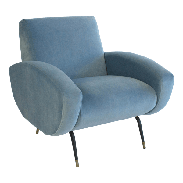 Kennedy Chair - Dusk Blue Velvet | Darcy & Duke, Perth WA