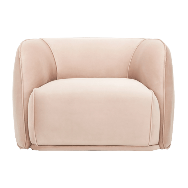 Blush pink plush velvet snuggle chair | Luxury sofa, arm & occasional chairs, Perth WA