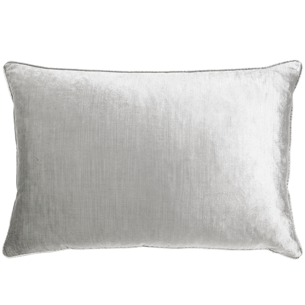 Rapee Roma rectangle cushion grey/silver | Velvet cushions, luxury cushion, home decor - Perth, WA