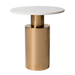 Round brass and white marble coffee table | Side tables, Perth WA