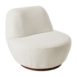 White boucle retro style occasional chair | Arm chairs, Perth WA
