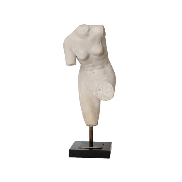 Greco-Roman style bust/figurine on a wooden stand | Decorative home accessories - Perth WA