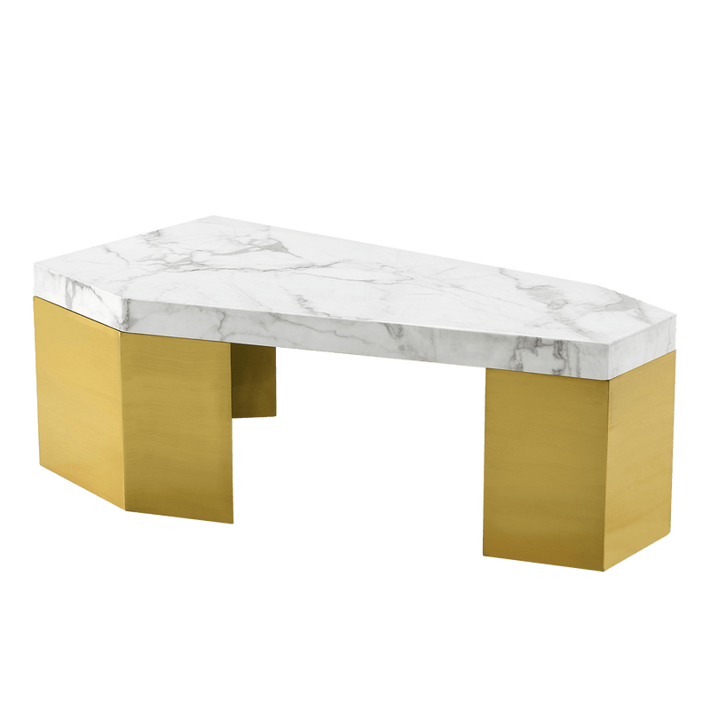 White marble table with golden legs | Coffee & side tables Perth WA