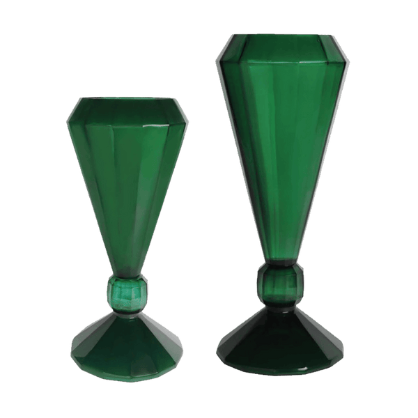Art deco emerald green diamond jade vase | Homeware | Perth, WA