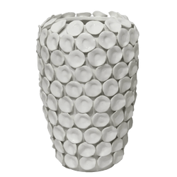 White ceramic vase with detailing | Decorative home accessories - Perth WA