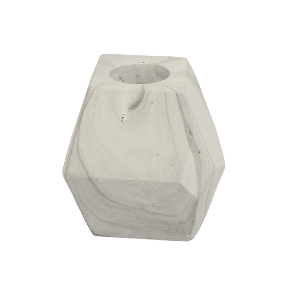 Polygon candle holder with marble detail | Candle holders & hurricanes - Perth WA