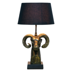 Antique style bronze ram head table lamp | Table lamps, lighting, home decor - Perth, WA