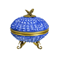 Porcelain and bronze seashell trinket box | Antique style decorative home accessories Perth WA