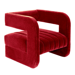 Square style velvet occasional chair with open back | Luxury seating & armchairs - Perth WA | By Natalie Jayne Interiors
