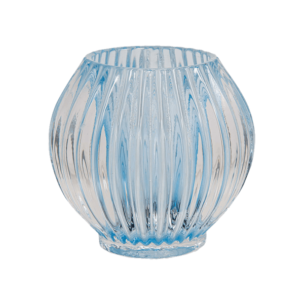 Round tealight candle holder with blue stained glassing | Candles and candle holders, candle accessories - Perth, WA