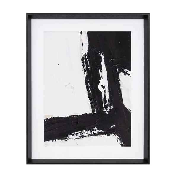 Black and white abstract art piece. Framed and ready to hang | Artworks & Canvases - Perth WA