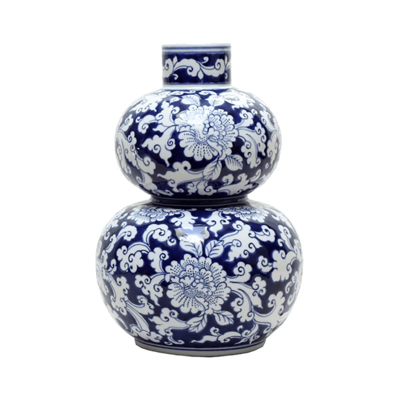 Floral botanica jar/urn/vase oriental style | Luxury home accessories - Perth WA