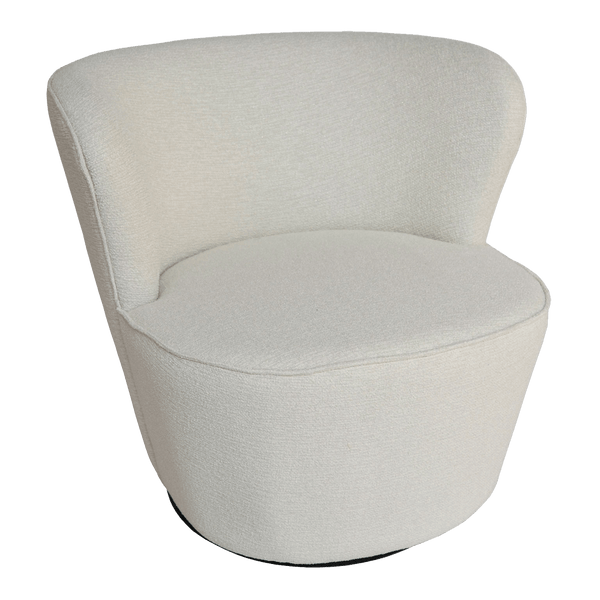 Coco Swivel Chair - Textured Pearl | Darcy & Duke, Perth WA