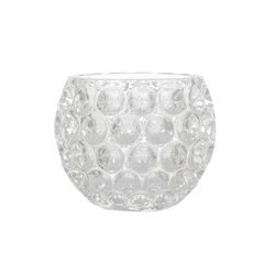 Round glass tealight candle holder | candles, candle accessories, hurricanes - Perth, WA