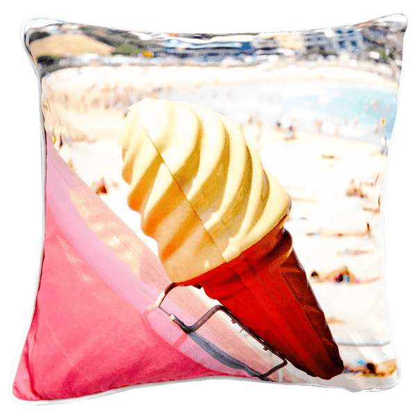 Artist Lab JD Ice cream Pink cushion 45x45cm | Luxury textiles, home decor & accessories - Perth WA