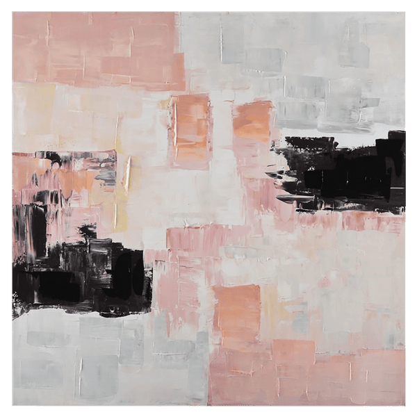 Blush pink, black, white and gold abstract art canvas | Art, canvas art, abstract art - Perth, WA