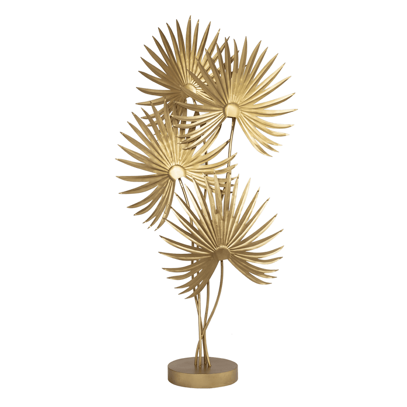 Matte gold palm leaf Floor Lamp | Luxury lighting and lamps - Perth WA